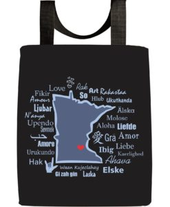 Minnesota-one-love-tote-bag-recycled-materials-aclu-donations