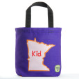 Purple MN kid tote bag