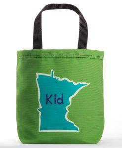 Green MN kid tote bag