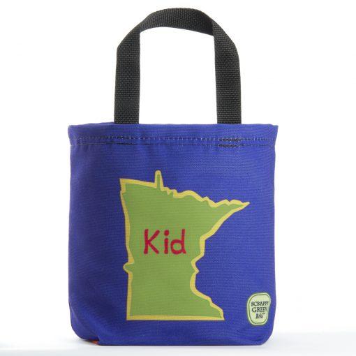 Minnesota Kid Tote Bag on Blue
