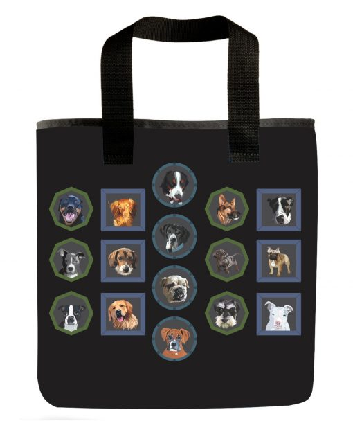 all-dog-grocery-bag-market-bag-beagle-boston-terrier-golden-retriever-pit-bull-german-shepard-english-bulldog-rottweiler-breeds