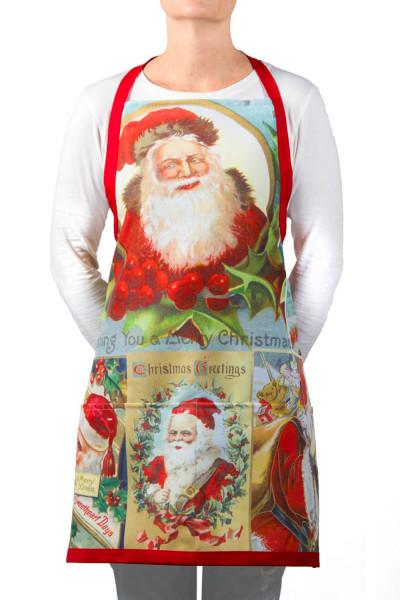 apron-eco-santa-vintage-christmas-postcards-washable-red-saint-nick