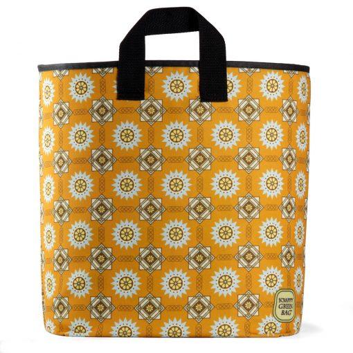 art-deco-tapestry-pattern-beautiful-pretty-orange-blue-cream-brown-american-made-machine-washable-ecofriendly