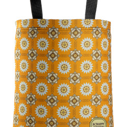 art-deco-tapestry-pattern-orange-brown-blue-hip-chic-cool-american-made-eco-friendly-tote-bag