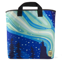 Northern-Lights-Aurora Borealis Grocery Bag