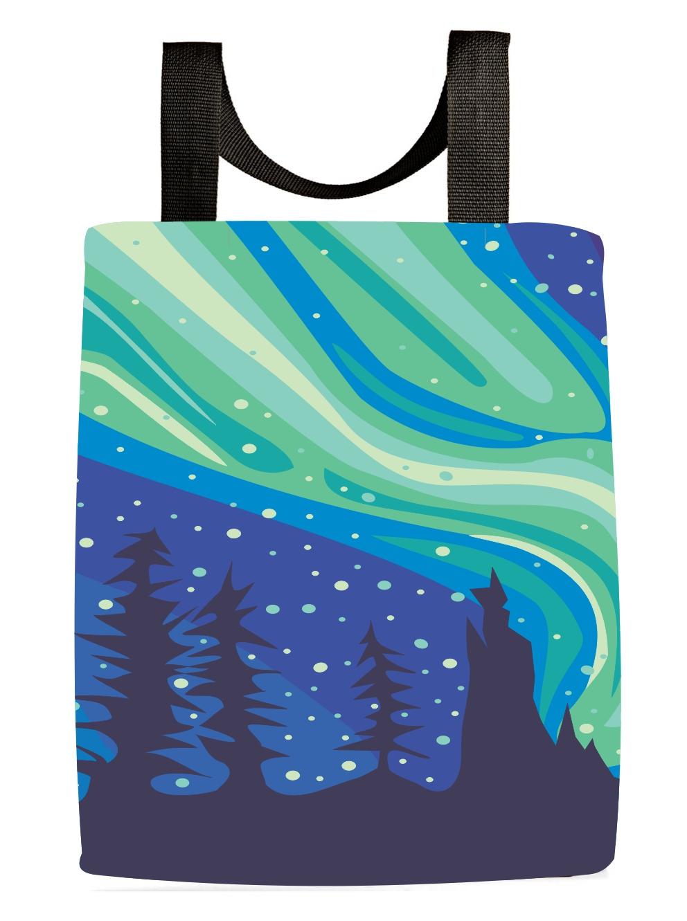 3b1923ddb1a Aurora Northern Lights Tote Bag