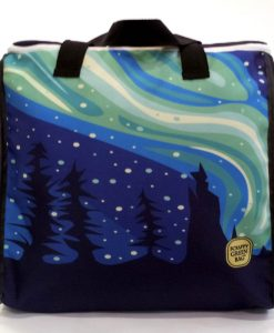 Aurora zip top tote bag