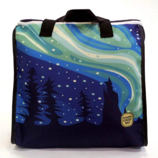 Aurora zip top tote bag