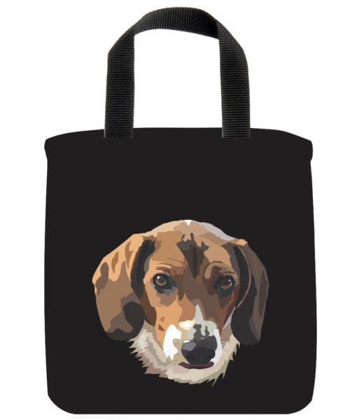beagle-dog-mini-tote-green-recycled-materials-lunch-bag