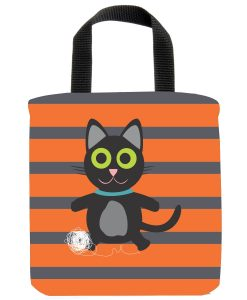 black kitty mini tote