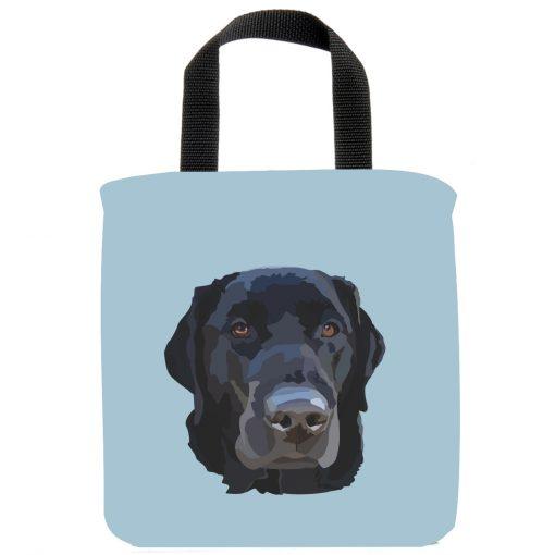 black-lab-labrador-retriever-mini-tote-bag