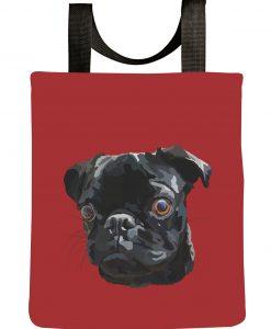 black-pug-tote-bag