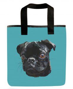 black-pug-grocery-bag