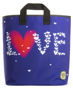 Blue Love Grocery Bag