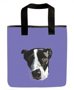 border-collie -lab-grocery-bag