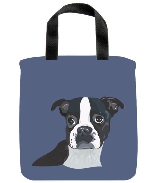 boston-terrier-dog-mini-tote-blue-recycled-materials-lunch-bag