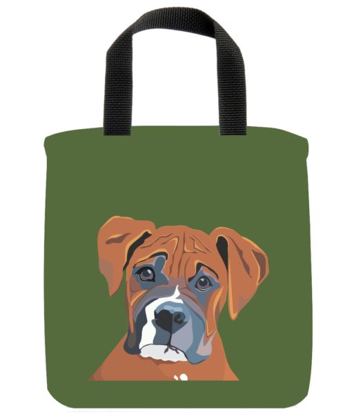 boxer-dog-mini-tote-green-recycled-materials-lunch-bag-sustainable
