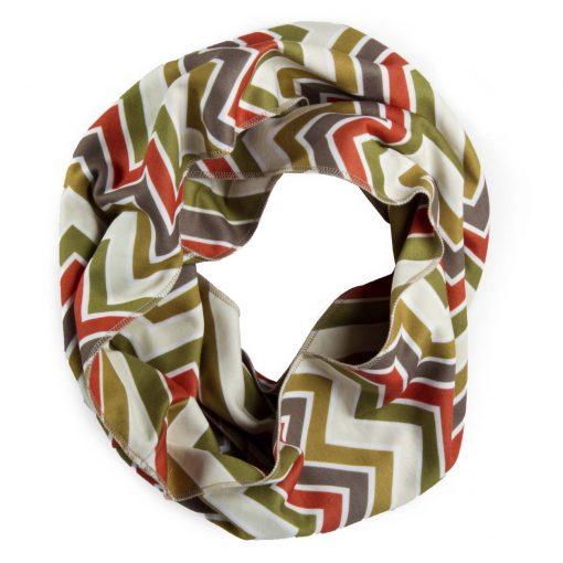 Cream zig zag infinity scarf