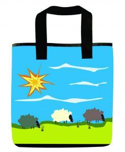 Day Sheep night sheep market grocery bag.