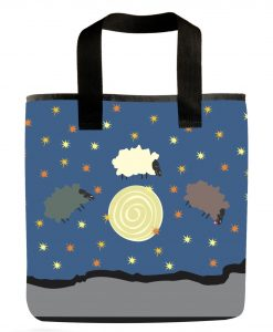 Day sheep night sheep grocery bag.