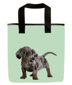 dachshund dog grocery bag