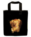 dachshund dog long hair grocery bag