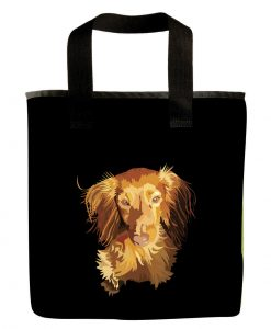 dachshund dog long hair grocery bag