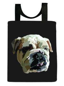 dog-english-bulldog-gray-tote-bag-recycled-washable