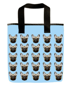 French bulldog grocery bag