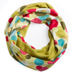 Eggs and Olives Infinity Scarf