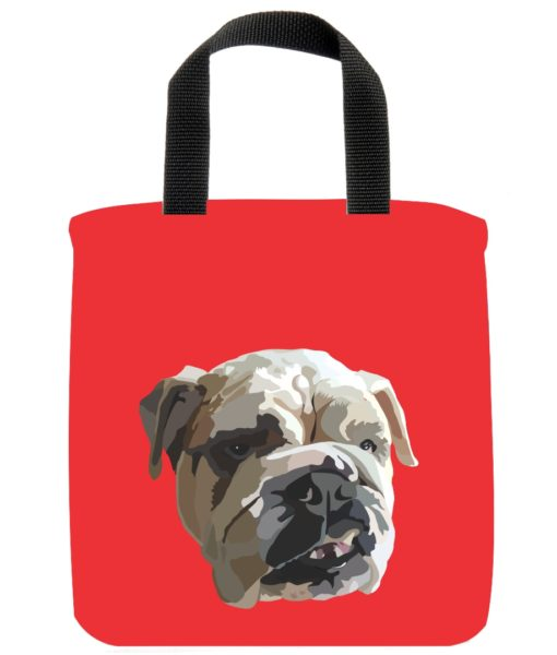 english-bulldog-dog-mini-tote-red-recycled-materials-lunch-bag-sustainable