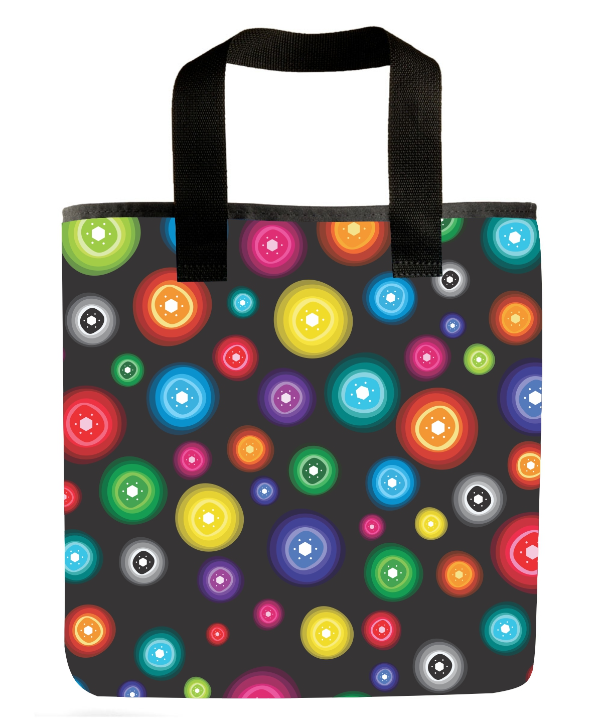 Bright Colors Make The Folk Art Polka Dot Grocery Bag Beautiful Dots Colorful Market