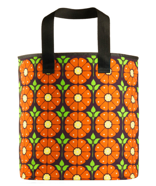 grocery-bag-eco-friendly-recycled-material-the-shea-poppy-flowers-orange-black
