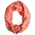 red and cream infinity scarf