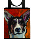 kat-corrigan-dog-portraits-tote-bag-eco-corrgie- dogs-canine-artist-seriesB