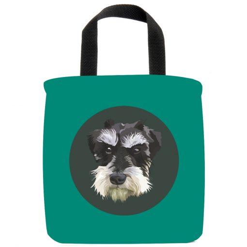 mini-schnauzer-dog-mini-tote-bag-teal