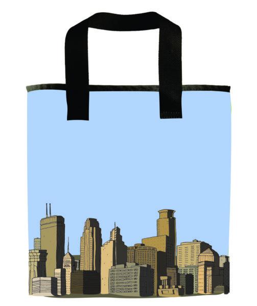 minneapolis-skyline-sky-downtown-grocery-bag-recycled-materials-minnesota