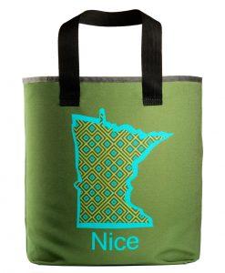Minesota Nice grocery bag with 27 inch handles