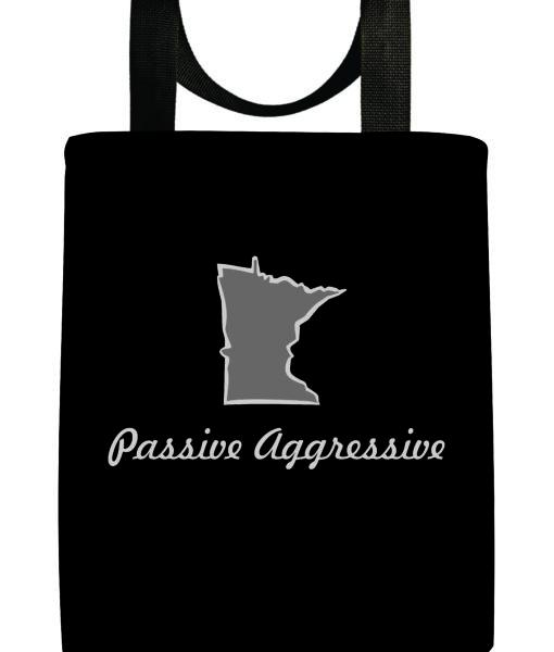 minnesota-passive-aggressive-black-gray-recycled-washable-reuseable-tote-bag
