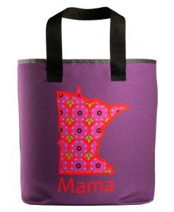 "Minnesota Mama grocery bag wiht 27"" handles"