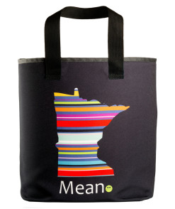 "Minnesota mean grocery bag with 27"" handles"