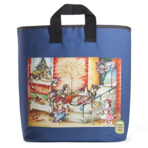 Nostalgia Cats Grocery Bag