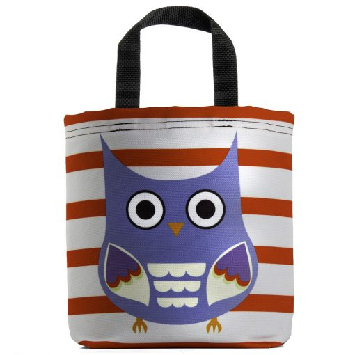 owl-raptor-stripes-gray-blue-red-lavendar-eco-kids-tote-bag
