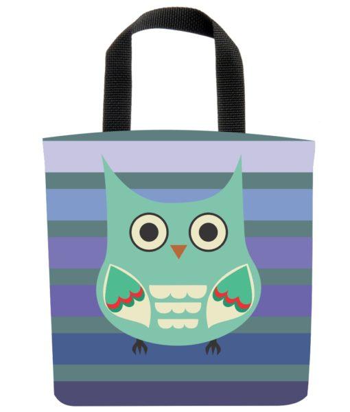 owl-raptor-stripes-purple-blue-green-eco-kids-lunch-bag