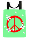 Peace and flowers tote bag