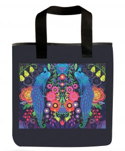 Peacock Grocery Bag art by Emily Dyer