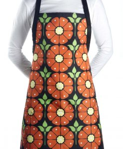 Model wearing our poppy apron