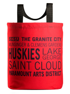 Saint Cloud icons tote red wiht 27 inch handles