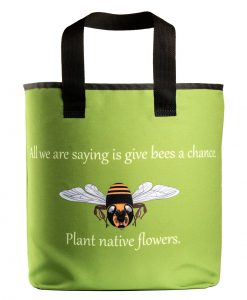 green save the honey bee grocery bag with 27 inch handles