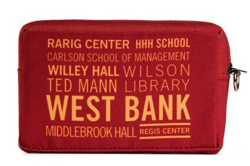 utility-cosmetic-bag-recycled-materials-west-bank-university-of-minnesota-rarig-center-hhh-ted-mann-wilson-library
